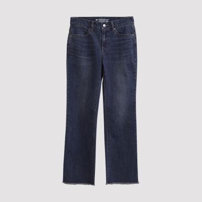 Hang Ten - 女裝 - 破壞抽鬚喇叭牛仔褲-藍