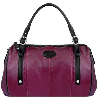 TODS 紫羅蘭色亮面漆皮G-BAG波士頓包-大型
