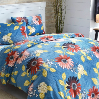 LAMINA 花間集 法蘭絨鋪棉床包被套四件組(雙人)