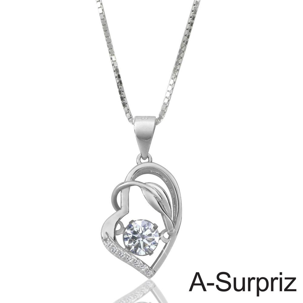 A-Surpriz 舞動真心100%925銀八心八箭項鍊