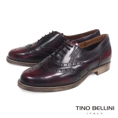 Tino Bellini 義大利進口復古英倫牛津鞋_古著紅