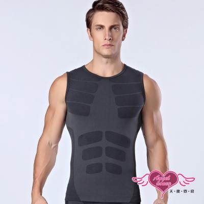 壓力衣 塑造型男 塑身坦克背心(黑M~XL)AngelHoney天使霓裳