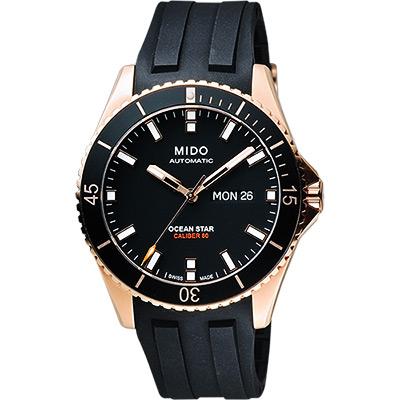 MIDO 美度 Ocean Star Caliber 80 200m潛水機械腕錶-黑