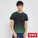EDWIN 數碼W口袋T恤-男-綠色