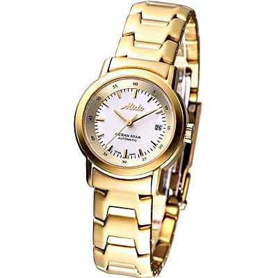 MIDO Ocean Star 經典仕女機械腕錶-白x金/25mm