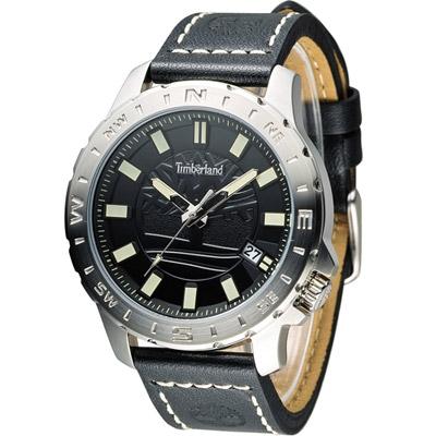 Timberland 海上冒險時尚腕錶-黑色/45mm