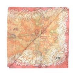 Alviero Martini 義大利地圖 異國風情地圖絲巾-粉紅(48X180)
