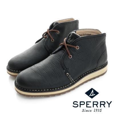 SPERRY 經典輕量化皮革沙漠靴(男)-海軍藍