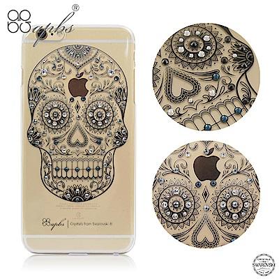 apbs iPhone6s/6 4.7吋 施華洛世奇彩鑽手機殼-骷髏頭