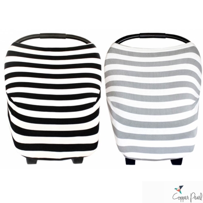 Copper Pearl 美國 粗條紋系列哺乳巾/座椅套 多功能二用款