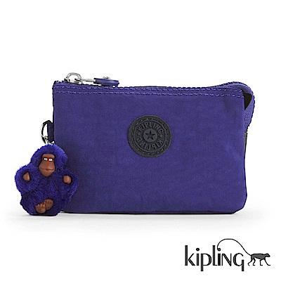 Kipling 零錢包 靛紫素面-小