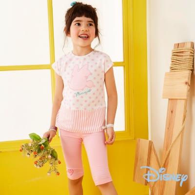 Disney 甜心米妮棉五分褲 中粉紅