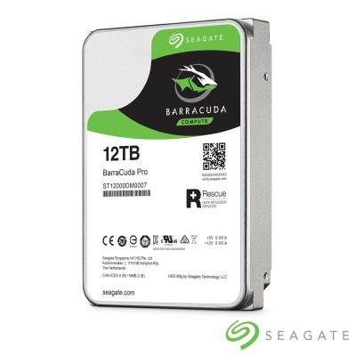 Seagate新梭魚BarraCuda Pro 12TB 3.5吋桌上型硬碟(送2年資料救援)