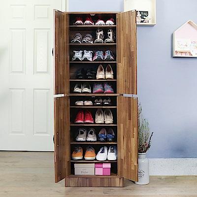澄境 工業風十層四門收納大容量鞋櫃51X31X154cm-DIY