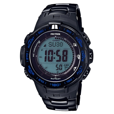 PROTREK 大自然戶外新裝備三大感應鈦合金電波錶(PRW-3100YT-1)黑47mm