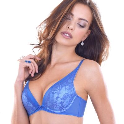 黛安芬-危險V曲線系列內衣 B-D罩杯內衣(皇家藍)