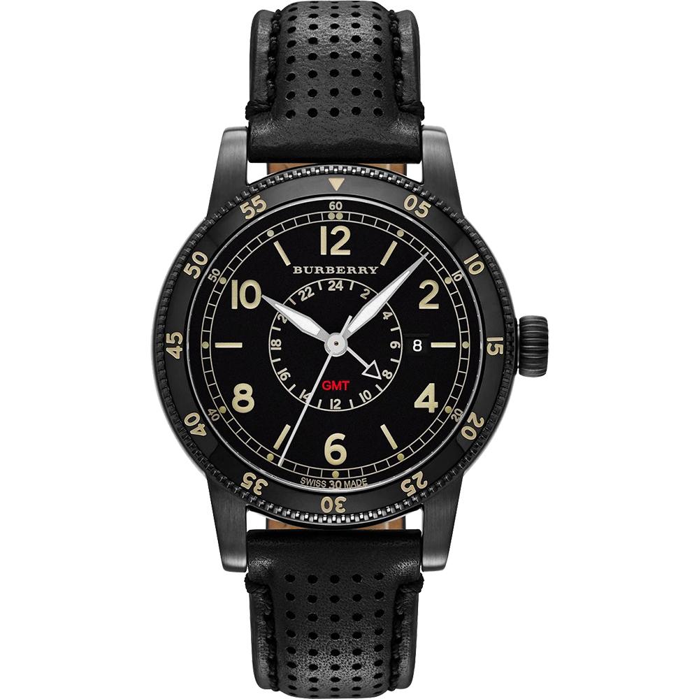 BURBERRY Utilitarian 系列GMT 二地時區腕錶-黑框/42mm