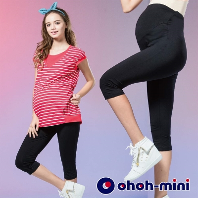 ohoh-mini 孕婦裝 涼感紗針織六分貼身內搭褲