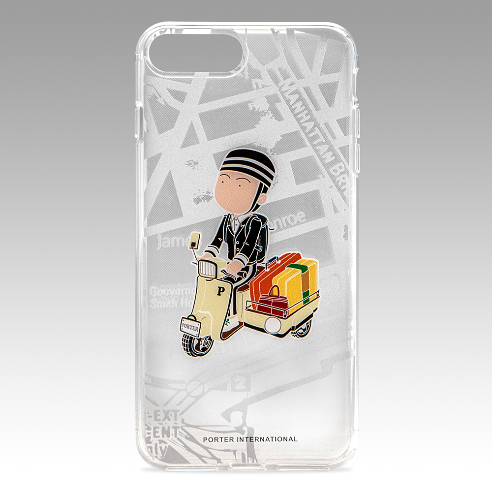 PORTER - 造型圖紋 iPhone 7 Plus透明保護背蓋