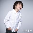 Mini Jule 童裝-襯衫 純色單口袋長袖襯衫(米白)