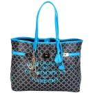 V73 CRUISE  菱格圖騰轉印設計購物包(藍色/小)