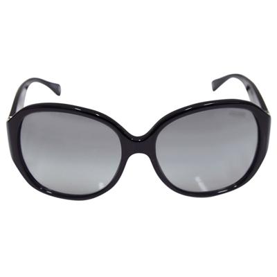 COACH 個性大膠框貼鑽墨鏡-黑(附原廠眼鏡盒)