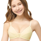 思薇爾 守護星自由風系列A罩無鋼圈素面內衣(淺黃色)