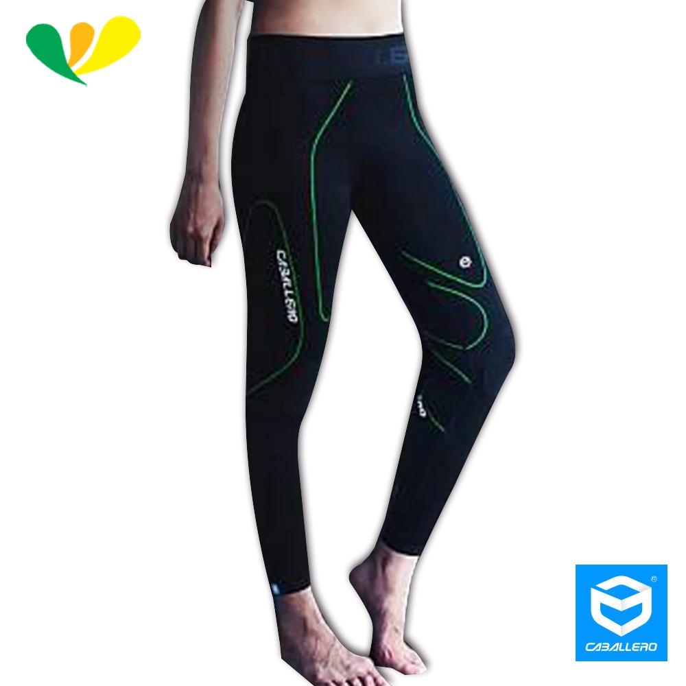 CABALLERO卡巴 一體成形高彈力機能壓縮褲(女)(炫綠)ECT6000W