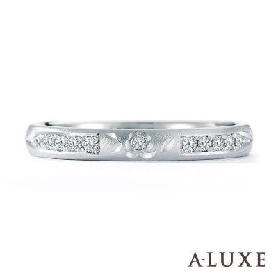 A-LUXE 亞立詩鑽石 PT950鉑金情侶結婚戒指-女戒