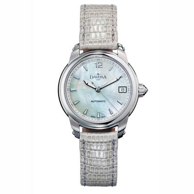 DAVOSA Ladies Delight 系列 經典時尚腕錶-白x灰錶帶/34mm