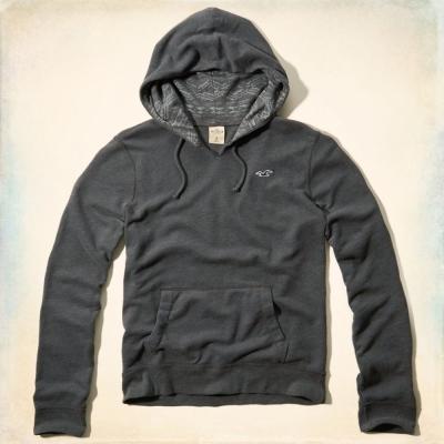 Hollister HCO 長袖 帽T 灰色 0169