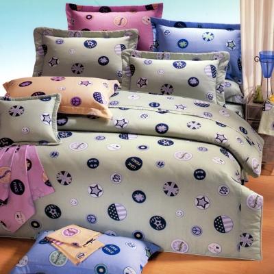 艾莉絲-貝倫 時尚學院 高級混紡棉 雙人加大鋪棉涼被床包四件組
