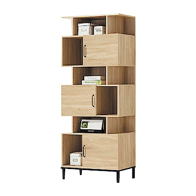 品家居  布萊克2.6尺三門展示櫃/收納櫃(二色可選)-79x40x196cm免組
