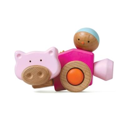 EQB旋轉積木-小豬車組