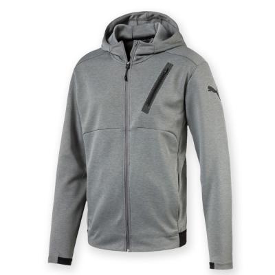 PUMA-男性訓練系列TECH連帽外套-中麻花灰-亞規