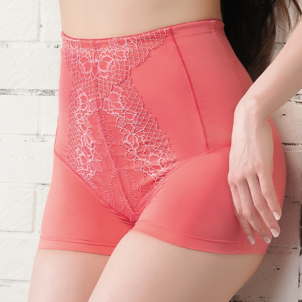 思薇爾 塑美波系列輕機能高腰短筒四角束褲(烈日紅)