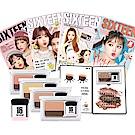 韓國 16brand 迷你雜誌炫彩雙色漸層眼影盤 四款