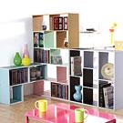 ★自由發揮創意★EASY HOME 玩創意L型組合收納書櫃