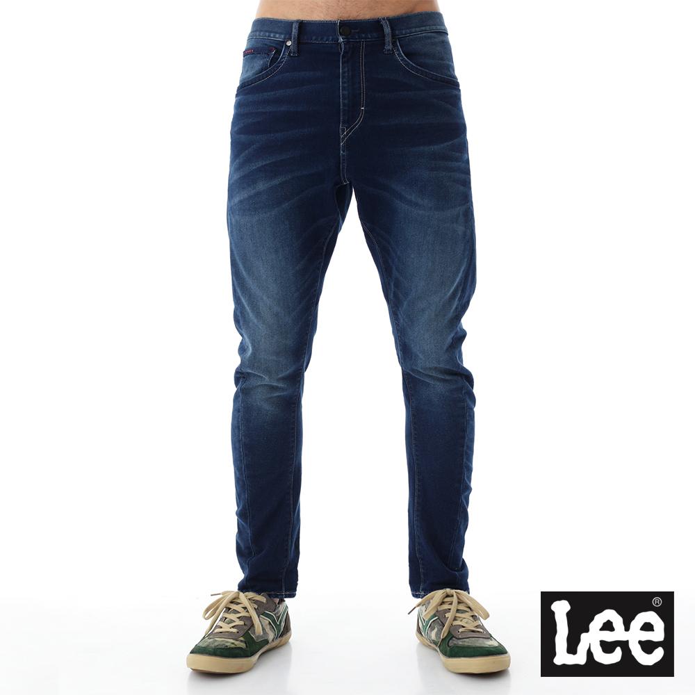 Lee 牛仔褲帥氣中腰舒適小直腳-男款-刷白-藍色