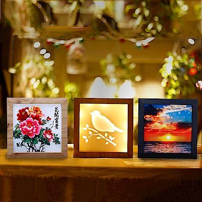 法國三寶貝 創意造型鳥鳴 夕陽 花朵相框造型燈LED燈