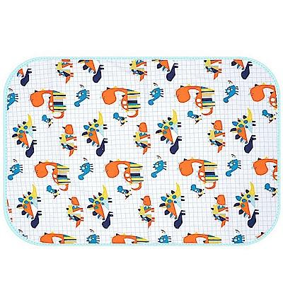 Baby unicorn 藍橘恐龍多功能防水隔尿墊野餐墊