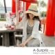 A-Surpriz  簡約繩結遮陽帽(米)