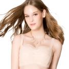 思薇爾 抹胸系列A-C罩蕾絲包覆內衣(杏膚色)