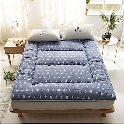 FL生活+ 超軟Q加長加厚8公分日式雙人加大床墊-夢幻幾何