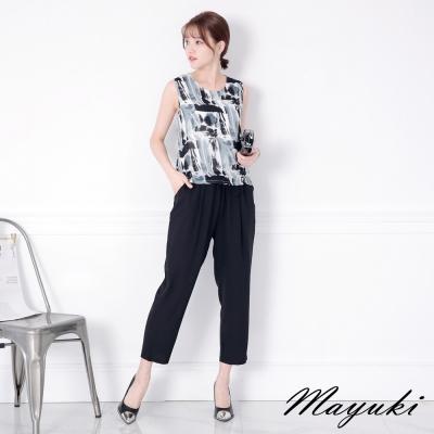 東京著衣-腰抽繩印花連身褲-XS.S.M(共一色)