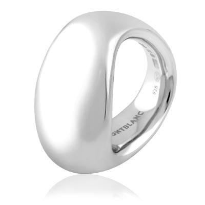 MONT BLANC 萬寶龍 六角星寬版純銀戒指