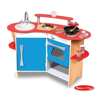 美國品牌 瑪莉莎 Melissa & Doug 玩食趣 – 木製小廚師DIY廚房玩具組