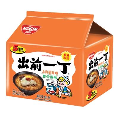 日清 出前一丁北海道味噌豚骨湯味速食麵(100gx5入)