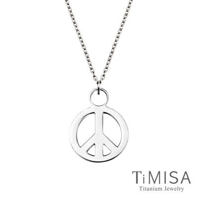 TiMISA 簡約和平s 純鈦(極細鎖骨)項鍊B