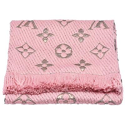 LV M70466 Monogram LOGOMANIA SHINE金銀紗羊毛針織圍巾-粉